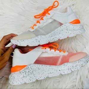 Orange transparent chunky sneaker